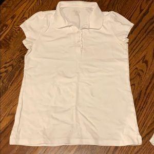 White polo tee shirt. Size 14.